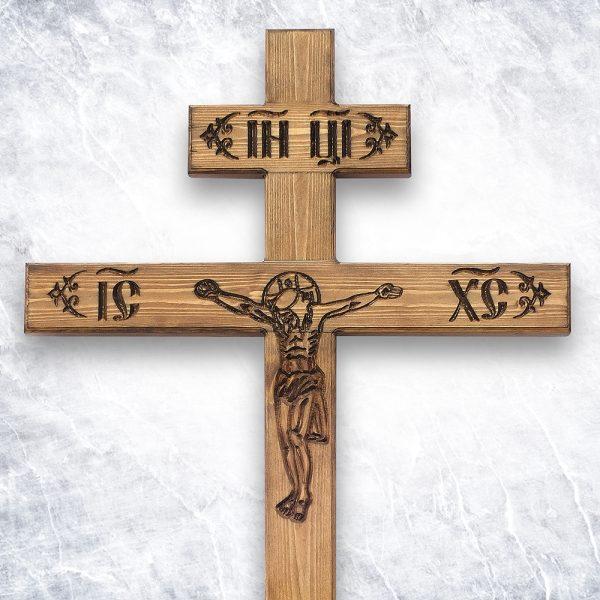 Крест «Русский православный — Прямой Фактурный»