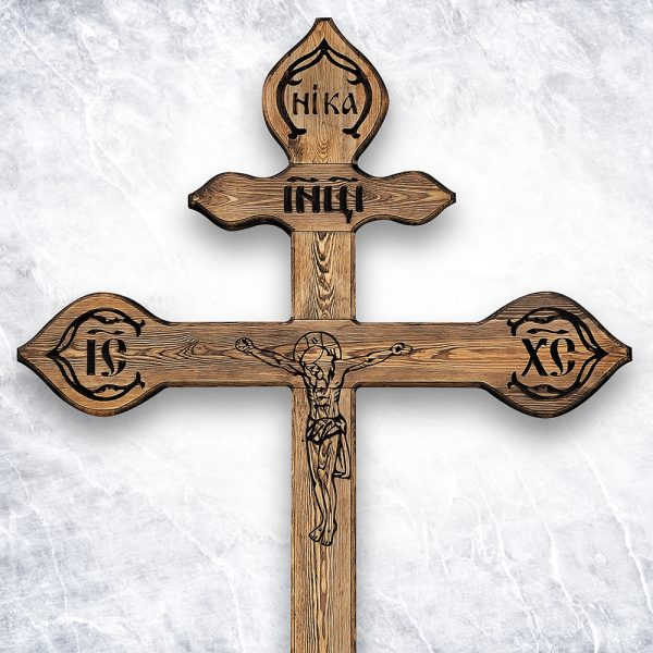 Крест «Русский православный — VIP Фактурный»