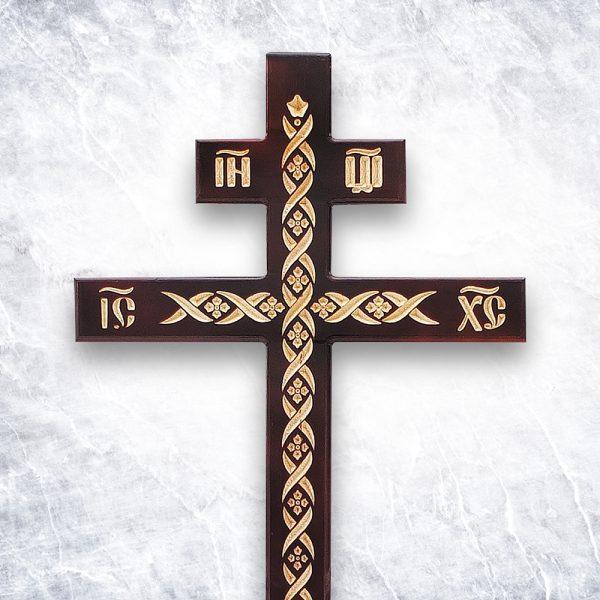 Крест «Русский православный — Узорный прямой»