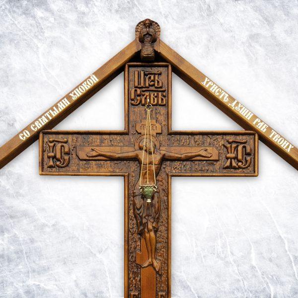 Крест «Резной №2» (с крышкой / без крышки)