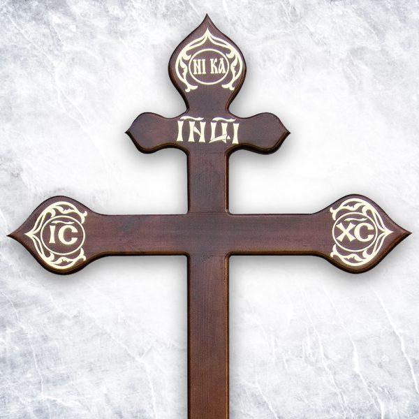 Крест «Сосновый фигурный» темный