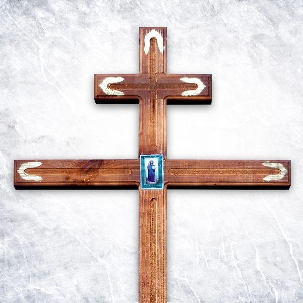 Крест «Узкий с иконой»