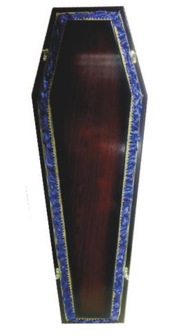 Гроб Б-6 комбинированый синий