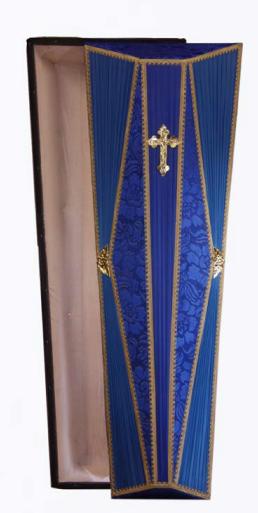 Гроб «Гусар» синий