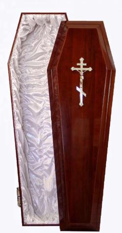 Гроб полированный «Евро» (сосна)
