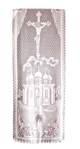 Покрывало тюль с церковной символикой
